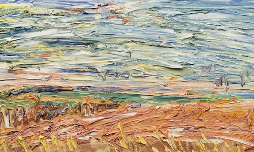 Late April, 2008 - Pett, Earth with seagulls - 60/31cm