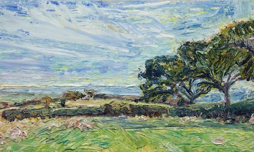 25 September, 2011 - Pett three oak trees - 85/36cm
